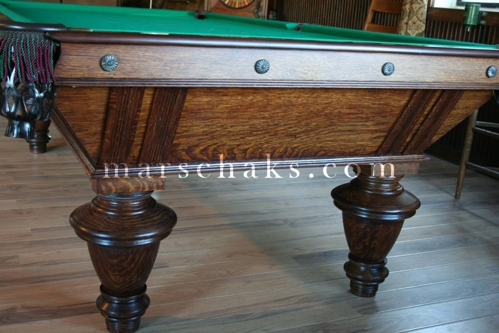 1890 naragansett oak marschak 39 s for Brunswick pool tables