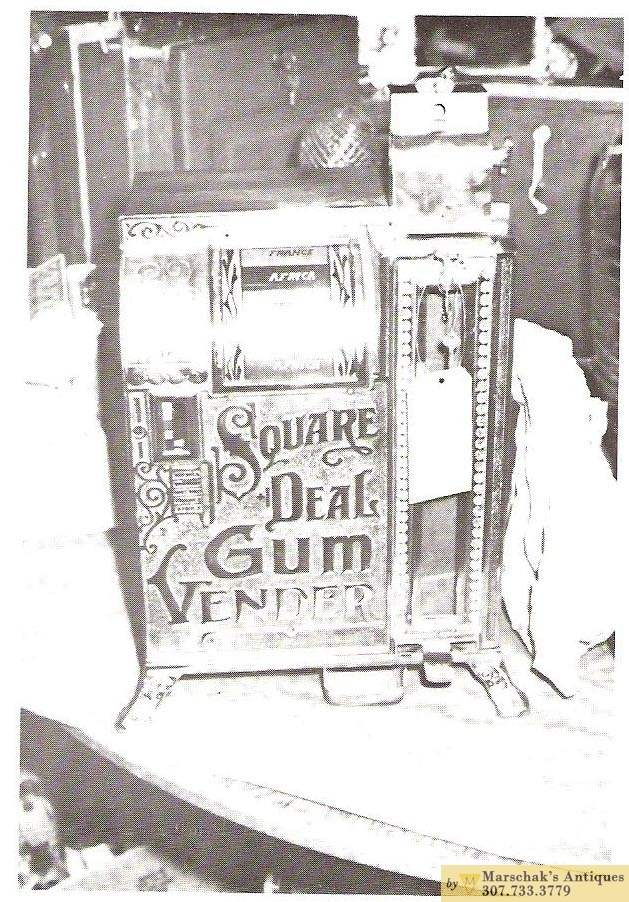 Antique Slot Machines - eagle-square-deal-gum-vender